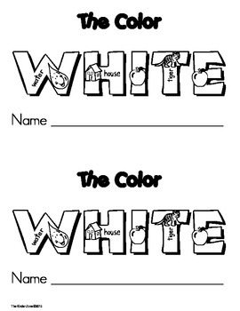 Color White Emergent Leveled Reader ** Perfect for Read to Self