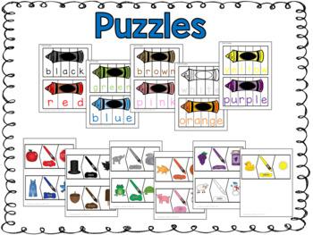 Mega Bundle of Color Word Work Centers