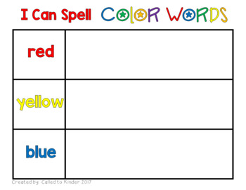 Color Word Work Centers {stamp a word; word building}