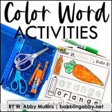 Color Word Activities Distance Learning