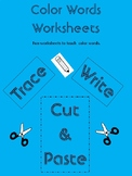Color Word Activity Worksheets