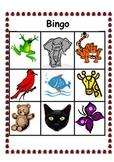 Color Word Bingo 2- Animal and Sign Language Options