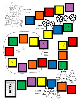 Color Word Board Game