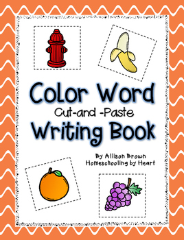 Color Word Cut-and-Paste Book