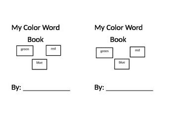 Color Word Book-Front Cover
