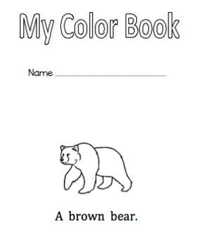 Color Word Book Kindergarten