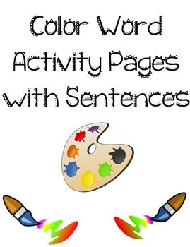 Color Word Book Pages