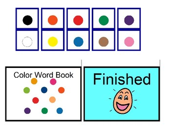 Color Word Book for Autism