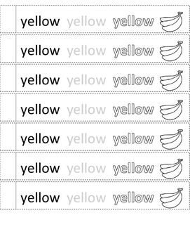 Color Word Bracelets