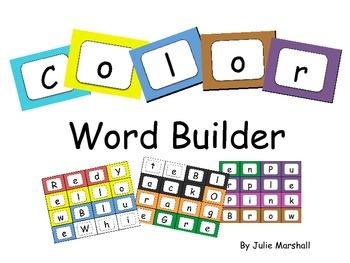 Color Word Builder