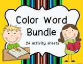 Color Word Activities Bundle
