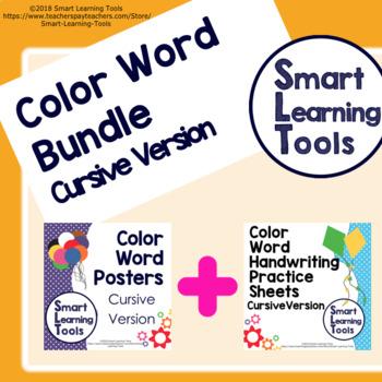 Color Word Bundle - Cursive Version