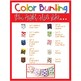Color Word Bunting- Set 1 White & Color Block