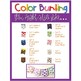 Color Word Bunting- Set 2 White & Color Block