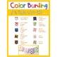 Color Word Bunting- Set 3 Chalkboard & Color Block