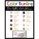 Color Word Bunting- Set 9 Rustic Burlap