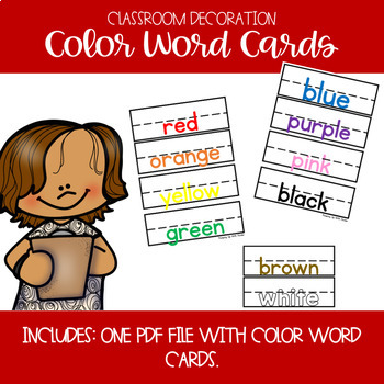 Color Word Poster Cards
