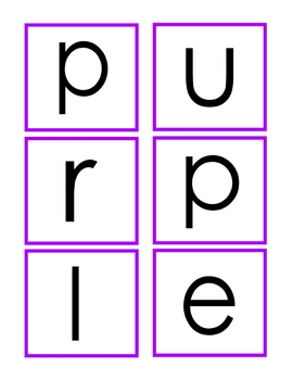 Color Word Cards Spell The 10 Basic Colors By Doodle