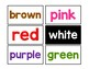 Color Word Cards (Word Wall)