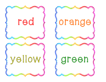 Color Word Cards w/ Spanish