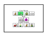 Color Word Cards with LAMP - WFL - Sequences