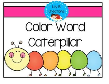 Color Word Caterpillar
