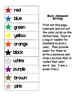Super Star Color Word Center- Center activites to build sight word recognition