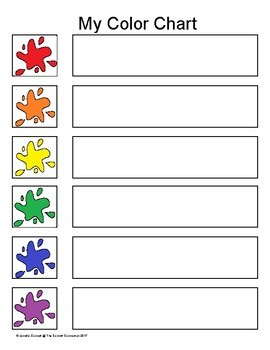 Color Word Centers and Small Group Activities in English Spanish and French