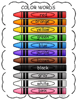 Color Word Chart