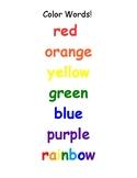 Color Word Cheat Sheet Freebie!