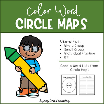 Color Word Circle Maps