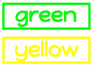Color Word Classroom Signs