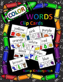 Color Words Clip Cards  Distance Learning