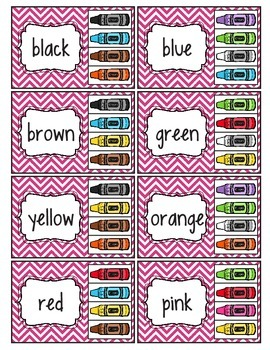 Color Word Clip Cards (Task Cards)