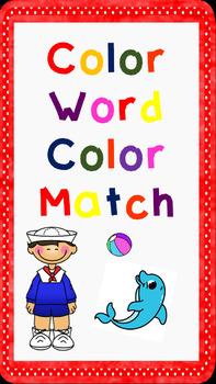 Color Word Color Match
