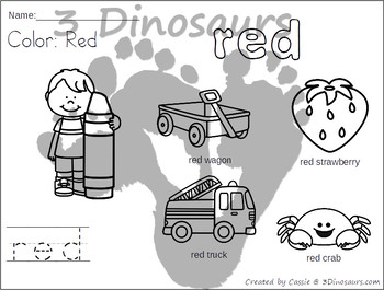 Color Word Coloring Pages