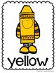 Color Word Crayon Posters