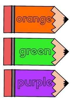Color Word Crayons