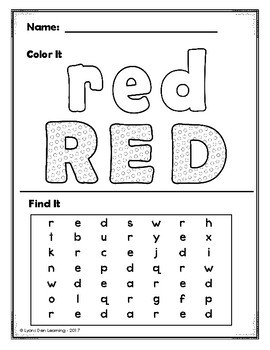 Color Word Do It! Trace, Write, Color, Find, Cut and Glue It!