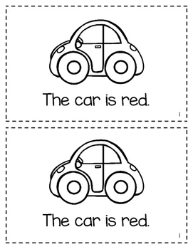 Color Word Easy Interactive Readers