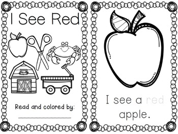 Color Word Emergent Readers