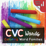 Color Word Families - CVC Words and Coloring Short Vowel Words