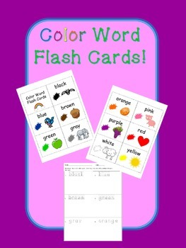 Color Word Flash Cards