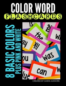 Color Word Flashcard Labels