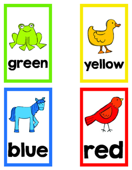 Color Word Flashcards