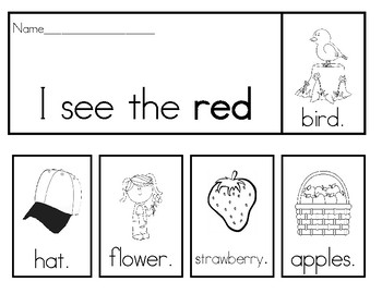 Color Word Flipbooks