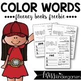 Sight Words Fluency Books {color words freebie}