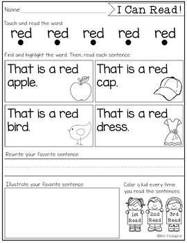Color Word Fluency & Reading Intervention {freebie}