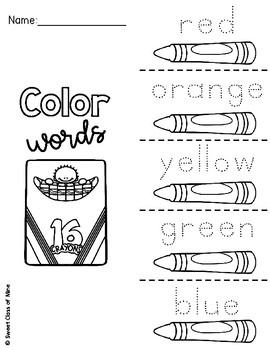 Color Word Foldables