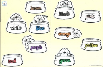 Color Word Game - Doggy-Bone